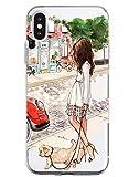 Oihxse Funda Compatible con iPhone 5/5S/SE, Carcasa Transparente TPU Silicona Gel Ultra Fina Suave Protección Flexible Lindo Dibujos Anti-rasguños Caso Cubierta (A4)