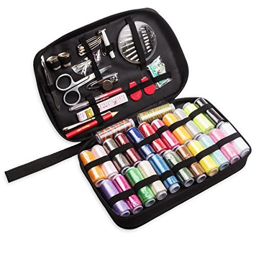 97 Pieces Sewing Kit, ABUFF Portable Household Sewing Accessories Set. Perfect for Home, Traveling, Emergency, Whole Family to Mend and Repair ( 24 Colors of Thread)