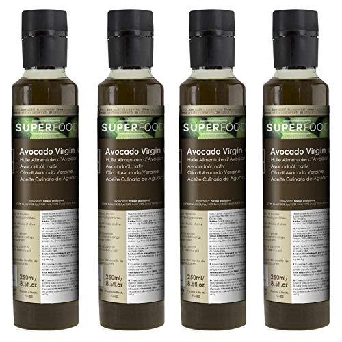 Aguacate Virgen BIO - Aceite Culinario 100% Puro - Certificado Ecológico - 1 L (4x250ml)