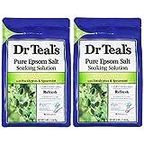 Dr Teal's(ティールズ) フレグランスエプソムソルト ユーカリ&スペアミント 入浴剤 1360g ×2個セット 1360g×2個
