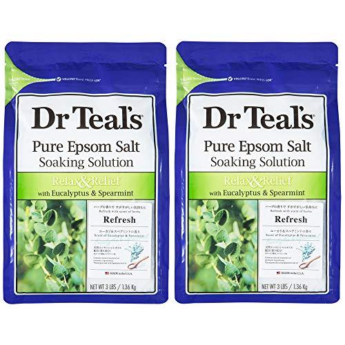 Dr Teal's(ティールズ) フレグランスエプソムソルト ユーカリ&スペアミント 入浴剤 1360g ×2個セット 1360g...