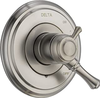 Delta Faucet Cassidy 17 Series Dual-Function Shower Handle Valve Trim Kit, Stainless T17097-SS (Valve Not Included)