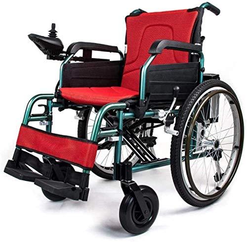 Silla de Ruedas eléctrica Plegable, Silla de ruedas eléctrica inteligente de edad avanzada con silla de ruedas automática scooter plegable de la luz eléctrica de movilidad reducida for mayores usuario
