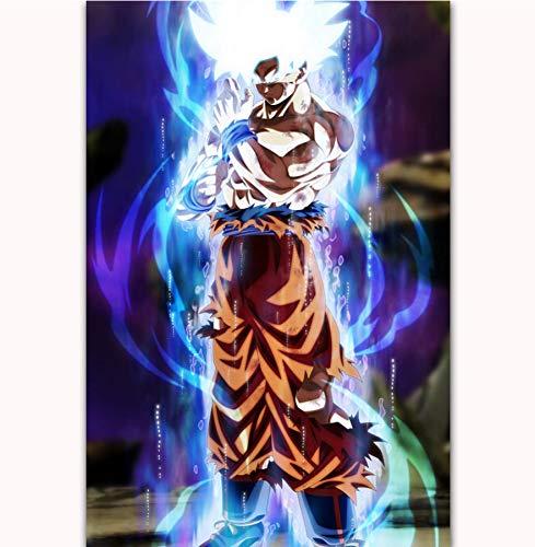 NOVELOVE Imagen de Arte de Pared Dragon Ball Super Goku Movie Posters Imprimir Lienzo sin Marco 40 * 60 cm