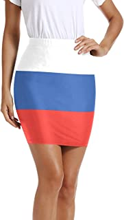 UWSG Women's Lebanon Flag Pencil Mini Short Bodycon Hip Skirt