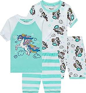 Little Girls Pajamas Baby Children Horse Pyjamas 100% Cotton Pink Toddler Sleepwear