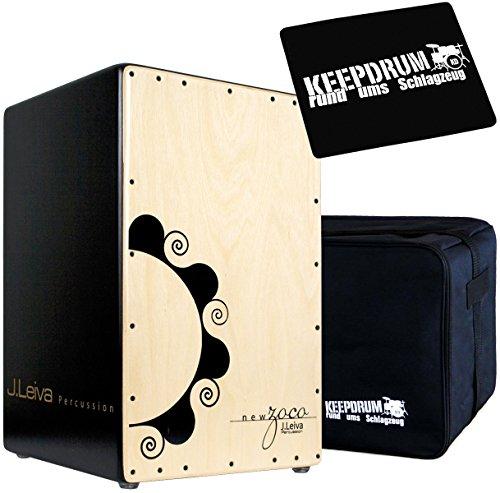 J.Leiva Percussion Zoco 2.0 Cajon + KEEEPDRUM Tasche + Sitz-Pad