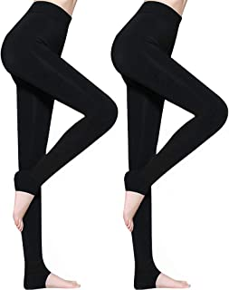 2 Pack Leggins Termicos Mujer, Leggins Mujer Invierno Terciopelo Elástico Leggings Mujer Invierno, Mallas Termicas Mujer Pantalon Termico, Leggings Negros