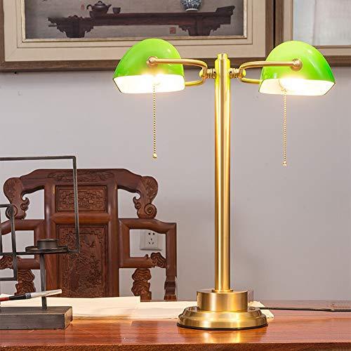 Retro Tischlampe Vintage Schreibtischlampe Kreative Kupfer Bank Lampe, Studie Schreibtisch Antike High-End Leselampe, Konferenztisch Arbeitsbüro...