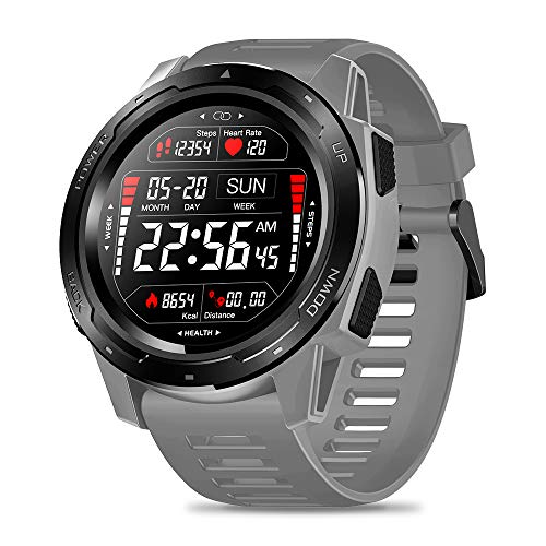 Zeblaze Vibe 5 Smart Watch,IP67 Waterproof Smartwatch Fitness Monitor Sleep Monitor Steps Counter Call Remind Pedometer Activity Tracker Smart Watch for iOS Android Phone(Gray)