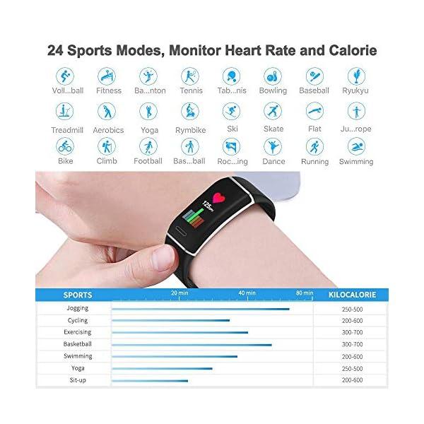 YOUNGDO Pulsera Actividad GPS, 24 modos deportivos Monitor pantalla en color monitor de ritmo cardíaco, GPS incorporado… 4