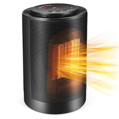 Electric Space Heater,1200W Quiet Space Heater with Carrying Handle,Mini Desk Personal Heater with Tip-Over & Over-Heat Protection for Home/Office/Bedroom