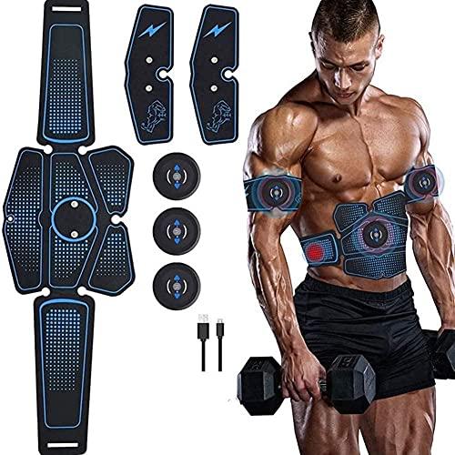 Estimulador Muscular ABS Entrenador de músculos Abdominales Estimulador Abdominal Recargable USB Máquina de Ejercicios EMS Equipo de Fitness para Gimnasio en casa