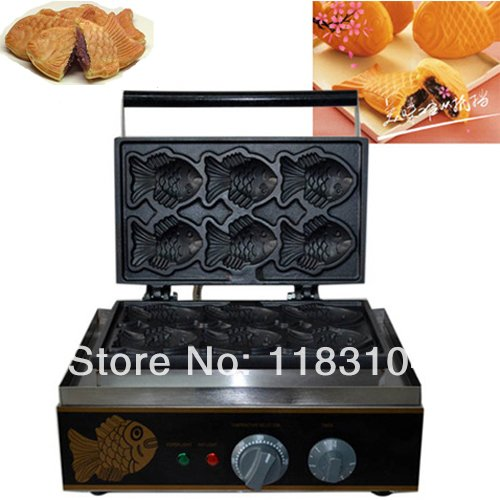 220v Electric Taiyaki Fish Cake Maker Machine Baker Iron Mold
