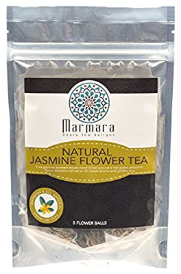 Jasmine Herbal All Natural Hand Rolled With Amaranath Flower 5 Balls by Marmara
