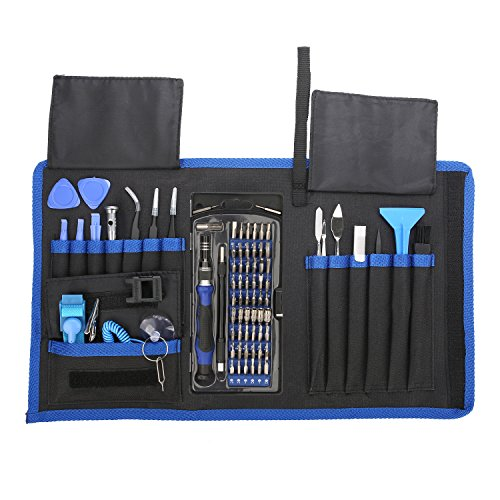Showpin 80 in 1 Precision Screwdriver Set with Magnetic Driver Kit, Repair Tool Kit with Portable Bag for iPhone 8,iPad,PS4,Xbox,Laptops,Tablet,Computer and Mobile Device,with Magnetizer Tool