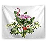 Bohemia Colgante De Pared Biombos Decorativos Toalla De Playa Tapiz De Planta De Flamenco Apartamento Dormitorio Sala De Estar Decoración 230X180Cm