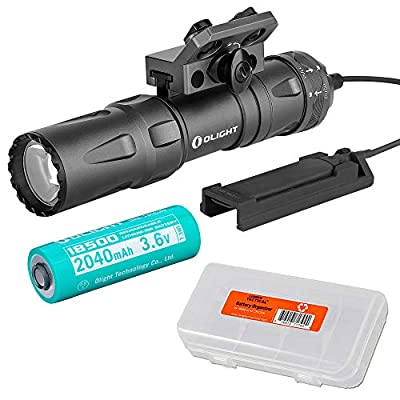 OLIGHT Odin Mini 1250 Lumen Rechargeable MIOK Mounting Flashlight Kit with LumenTac Battery Case