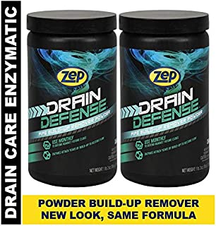 Zep Drain Defense Enzymatic Drain Care Powder ZDC16 (Pack of 2) Safe for Pipes and Septic Systems