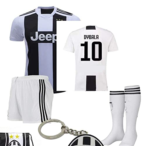 1c8992af5 Juventus Serie A 2018 19 Ronaldo Dybala Replica Jersey Kid Kit   Shirt