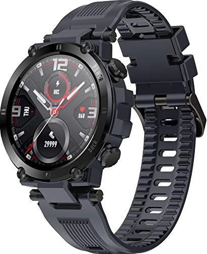 Smartwatch Schwimmen IP68 Wasserdicht Militär für Männer Damen Sport Modi Voll Touchscreen Farbdisplay Fitness Tracker Musik Kamera Schlafüberwachung Pulsmesser