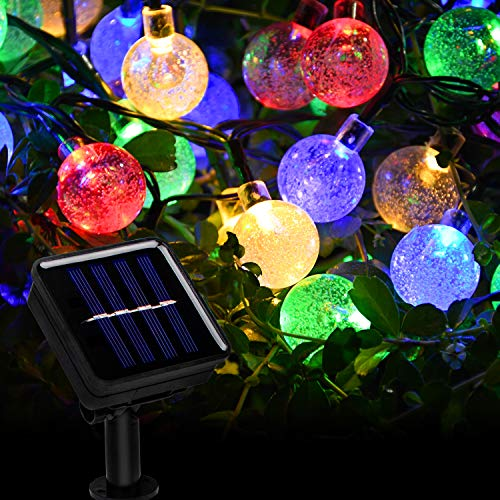 Beinhome Solar String Lights Outdoor 60 LED 36FT 8 Modes Waterproof Colorful Solar Globe String Lights for Garden, Patio, Yard, Party,Wedding Decoration