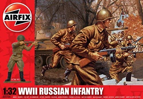 nuevo listado Airfix A02704 WWII Russian Infantry 1 32 32 32 Scale Military Series 2 Figures by Airfix  barato