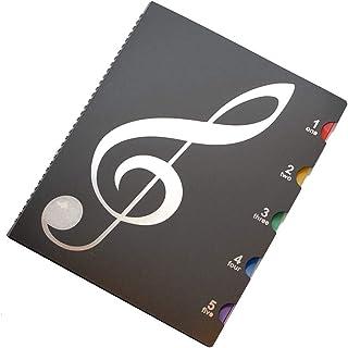 J-base 書き込みできる 楽譜ファイル A4サイズ ピアノ 吹奏 楽譜 見開き 最大40枚収納可能 音楽グッズ