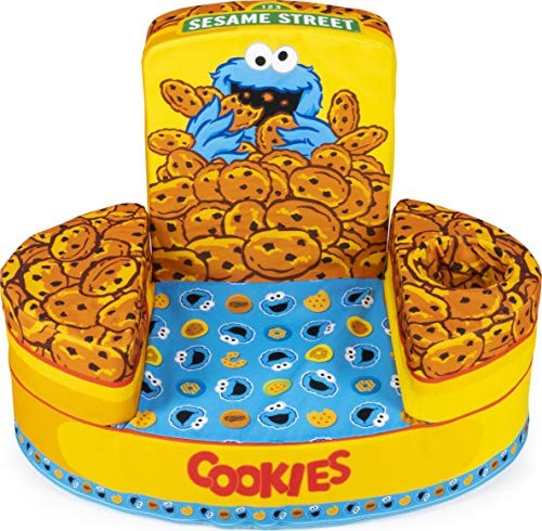 Marshmallow Furniture Flip-See-Do Child's Foam Furniture Toddler Chair for Kids Ages 18 Months and Up, Cookie Monster
