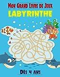 Mon Grand Livre de Jeux, Labyrinthe Dès 4 ans: livre de puzzles et activités pour les enfants | 100 labyrinthes variés à découvrir | Idéal pour les enfants - Dès 4 ans.