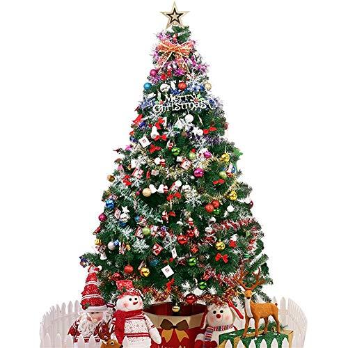 ZHongWei - Corona de Navidad Agujas de Pino Artificial de árboles de Navidad, Soportes de Hierro, Muy Adecuado for la decoración de Fiestas, Lugar, etc. Arboles de Navidad (Size : 1.5m)