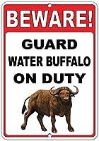 注意してください! 義務のおかしい引用アルミニウム水印で水牛を守ってください