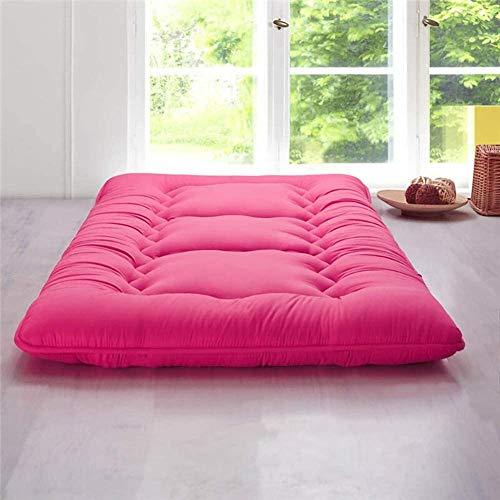 Colchón de suelo plegable japonés de 10 cm de grosor, para futón tatami, antideslizante, antibacteriano, doble colchoneta para futón individual, colchón para estudiantes, colchón D 150 x 200 cm