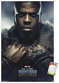 Trends International Marvel Cinematic Universe - Black Panther - M Baku One Sheet Wall Poster 22.375  x 34  Premium Poster & Mount Bundle
