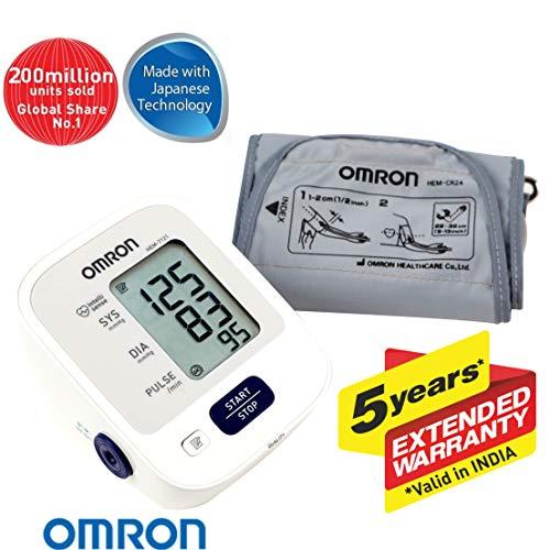 Omron Hem-7121 Blood Pressure Monitor 16 X 11 White::Blue