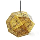 LED de luz empotrado en el techo Lámpara de acero inoxidable de 48 cm Iluminación de ingeniería nostálgica retro Geometría de grabado creativo Diámetro de lámpara de escalera de bola de múltiples cara