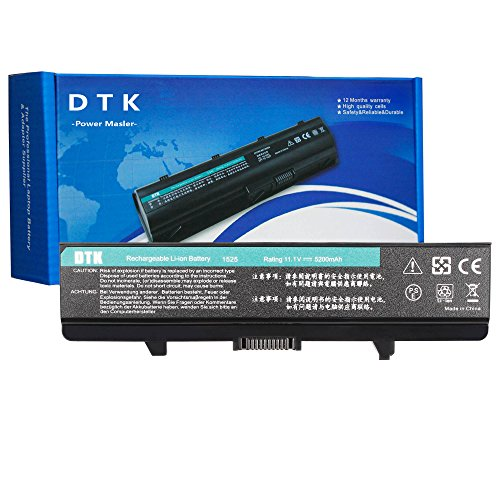 DTK Performance Laptop Battery for DELL Inspiron 1525 1526 1545 1546 1440 1750 VOSTRO 500 K450N - 12 Months Warranty [ 6-cell 11.1V 4400mah ] Notebook battery (4400MAH)