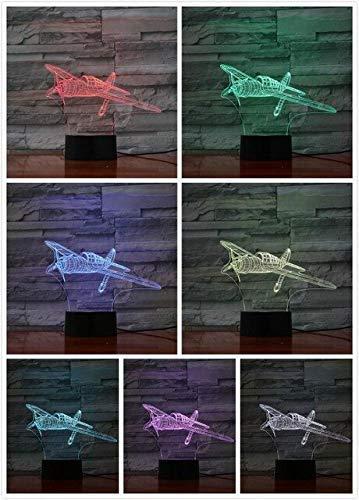 Illusielamp USB 3D LED nachtlampje retro tweede wereldoorlog vliegtuigen model illusie lampala fighter decoratieve verlichting figuur tafellamp bed 2