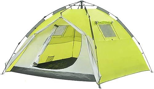 Tentes Camping en Plein Air 3-4 Personnes épaissie Emeute Pluie Montagne Sauvage Camping Plage Grand Jaune