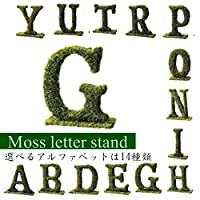 アルファベット オブジェ/文字/グリーン/ディスプレイ/お洒落/インテリア/選べる14種類/綺麗/ (I)