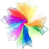 Mister M Pañuelos de Malabares | 12 Telas de Colores 60x60cm | Pañuelos de Baile | Diseñados por el premiado Artista Callejero Fiestas Infantiles y Juegos Malabares | Incluye Material de vídeo Online