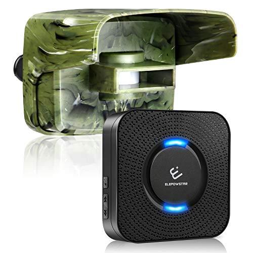 Driveway Alarm, ELEPOWSTAR Long Range Wireless Outside Motion Sensor Detector, Weatherproof DIY Security Alert System for Home, Yard, Garage(58 Chimes&5 Volumes) Camouflage
