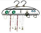 2 Pack - Hang It Jewelry Organizer - Stores Earrings, Bracelets, Rings and Necklaces   Perfect Solution to Messy & Tangled Jewelry Boxes   Extremely Durable - 3MM Steel   Black