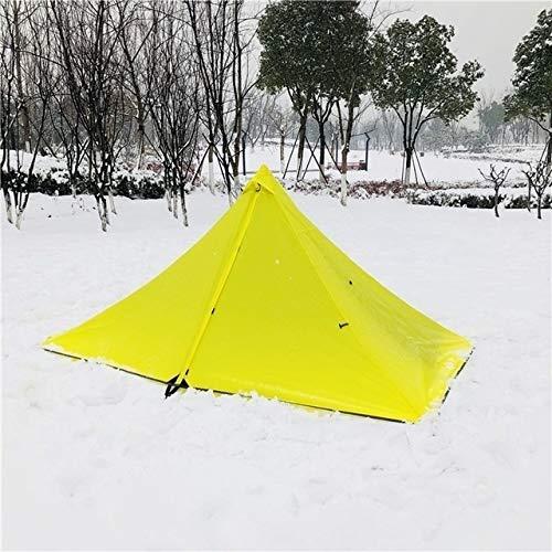 TENT Tentes Camping étanche Ultralight Double Pyramide Tente sans Tige Tiers Unique Une Seule Personne 4 Saison Toutes Météo for la Chasse Randonnée (Color : Outer Tent Only)