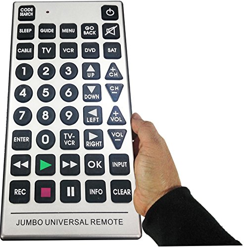 Boostwaves Universal Jumbo Remote Control TV-DVD-Cable It's Huge - Never Lose it!