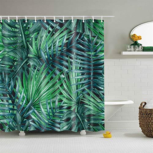 Ciujoy Duschvorhang 180x180cm, Duschvorhang Anti-Schimmel Duschvorhäng Wasserabweisend Shower Curtains Waschbar Anti-Bakteriell Duschvorhänge aus Polyester Badvorhang mit 12 Duschvorhängeringen (B)