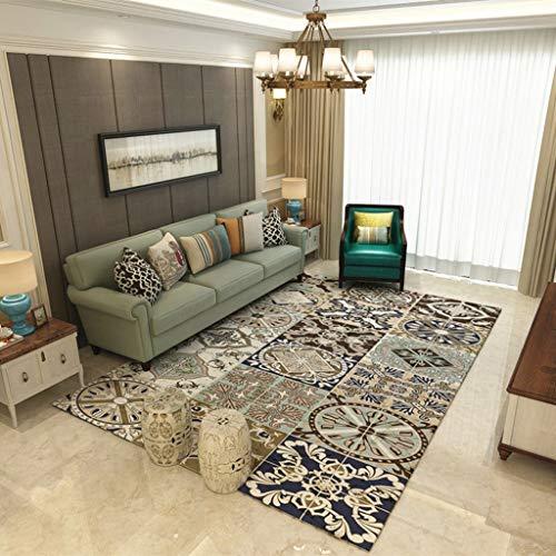 BYZ Haushalt Teppich-Teppich-europäischen gemischten einfachen Teppich Wohnzimmer Couchtisch Schlafzimmer Nachttisch Anti-Rutsch-Teppich - Anti Rutsch Schimmel Teppich,120 * 160 cm,15