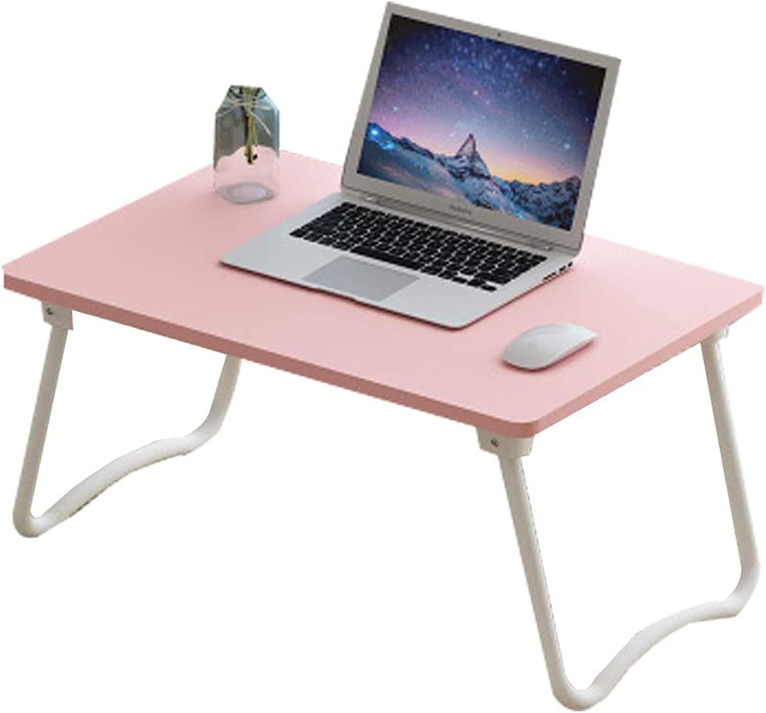 Hai Yan Portable Folding Table Folding Table - Bed Desk Folding Table College Dormitory Laptop Computer Desk Bedroom Multi-Function Lazy Small Table - Size  60x40x29cm (color   B)