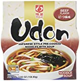 Myojo Bowl Flavored Udon Noodles, Beef, 5.6 Ounce (Pack of 6)