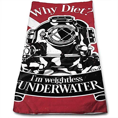 Bert-Collins Towel Étiquette de Motivation sous-Marine Plongeur Personnalité Amusant Motif Serviettes de Toilette Fibre Superfine Super Absorbant Serviettes de Gym Douces